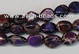 CDI389 15.5 inches 10*12mm nugget dyed imperial jasper beads