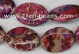 CDI475 15.5 inches 18*25mm oval dyed imperial jasper beads