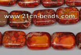 CDI553 15.5 inches 12*16mm rectangle dyed imperial jasper beads