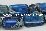 CDI56 16 inches 18*25mm rectangle dyed imperial jasper beads wholesale