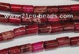 CDI590 15.5 inches 6*8mm tube dyed imperial jasper beads