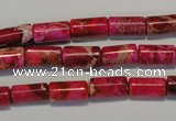 CDI591 15.5 inches 6*12mm tube dyed imperial jasper beads