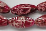CDI609 15.5 inches 15*30mm rice dyed imperial jasper beads