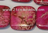CDI627 15.5 inches 30*30mm square dyed imperial jasper beads