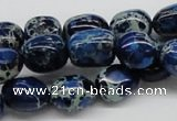 CDI63 16 inches 12*15mm nuggets dyed imperial jasper beads wholesale