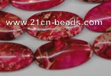 CDI647 15.5 inches 15*30mm oval dyed imperial jasper beads