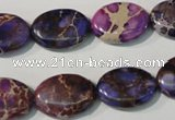 CDI711 15.5 inches 13*18mm oval dyed imperial jasper beads