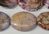 CDI712 15.5 inches 22*30mm oval dyed imperial jasper beads