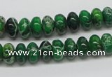 CDI72 16 inches 6*10mm rondelle dyed imperial jasper beads wholesale