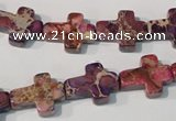 CDI722 15.5 inches 12*16mm cross dyed imperial jasper beads