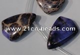 CDI724 Top-drilled 16*24mm flat teardrop dyed imperial jasper beads