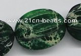CDI78 16 inches 26*33mm star fruit shaped dyed imperial jasper beads