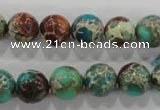 CDI804 15.5 inches 11mm round dyed imperial jasper beads wholesale