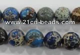 CDI814 15.5 inches 10mm round dyed imperial jasper beads wholesale