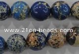 CDI816 15.5 inches 14mm round dyed imperial jasper beads wholesale