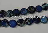 CDI905 15.5 inches 8mm flat round dyed imperial jasper beads