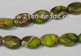 CDI939 15.5 inches 8*12mm oval dyed imperial jasper beads