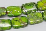 CDI95 16 inches 13*18mm rectangle dyed imperial jasper beads wholesale