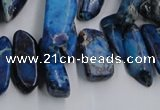 CDI986 15.5 inches 8*20mm - 10*35mm dyed imperial jasper chips beads