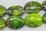 CDI99 16 inches 13*18mm oval dyed imperial jasper beads wholesale