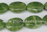 CDJ121 15.5 inches 15*20mm oval Canadian jade beads wholesale