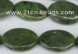 CDJ122 15.5 inches 18*25mm oval Canadian jade beads wholesale