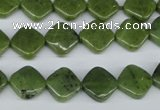 CDJ125 15.5 inches 10*10mm diamond Canadian jade beads wholesale