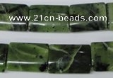 CDJ133 15.5 inches 15*20mm flat tube Canadian jade beads wholesale