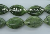 CDJ158 15.5 inches 12*20mm marquise Canadian jade beads wholesale
