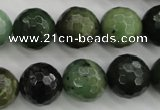 CDJ266 15.5 inches 16mm faceted round Canadian jade beads wholesale