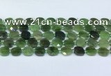 CDJ411 15.5 inches 10mm faceted square Canadian jade beads