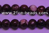 CDM51 15 inches 6mm round strawberry dalmatian jasper beads