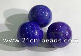 CDN1048 30mm round dyed white howlite decorations wholesale