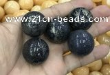 CDN11 25mm round pyrite gemstone decorations wholesale
