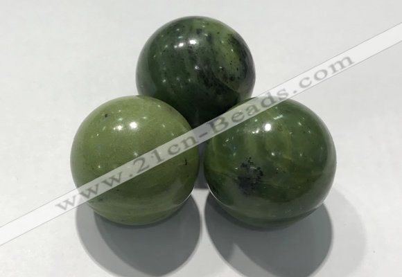 CDN1151 30mm round Canadian jade decorations wholesale