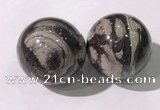CDN1304 40mm round jasper decorations wholesale