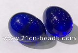CDN1341 35*45mm egg-shaped glass decorations wholesale