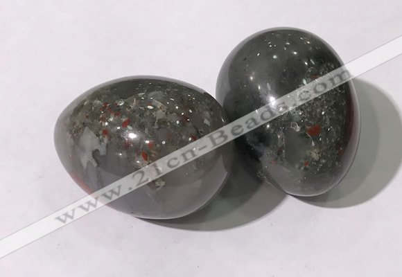 CDN1389 35*45mm egg-shaped African bloodstone decorations wholesale