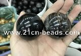 CDN26 45mm round natural astrophyllite gemstone decorations