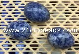 CDN308 30*40mm egg-shaped blue spot decorations wholesale
