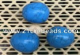 CDN316 30*40mm egg-shaped imitation turquoise decorations wholesale