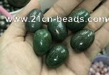 CDN33 18*25mm egg-shaped pyrite gemstone decorations wholesale