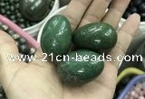 CDN34 28*38mm egg-shaped pyrite gemstone decorations wholesale