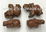 CDN388 20*40*30mm elephant goldstone decorations wholesale