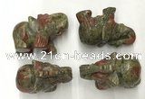CDN389 20*40*30mm elephant unakite decorations wholesale