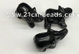 CDN404 25*50*35mm elephant black agate decorations wholesale