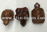 CDN439 28*45*22mm turtle goldstone decorations wholesale