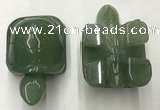 CDN458 38*55*28mm turtle green aventurine decorations wholesale