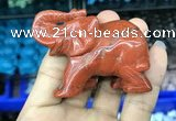 CDN520 33*65*45mm elephant red jasper decorations wholesale