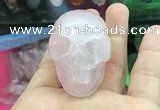 CDN551 35*50*40mm skull rose quartz decorations wholesale